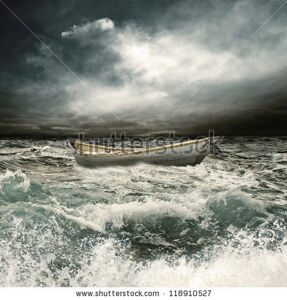 stock-photo-row-boat-in-thunderstorm-118910527