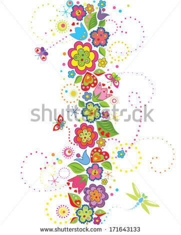 stock-vector-seamless-border-with-funny-colorful-flowers-171643133