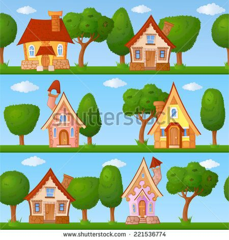 stock-vector-childish-seamless-pattern-with-little-houses-and-trees-221536774