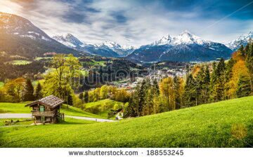 stock-photo-panoramic-view-of-beautiful-mountain-landscape-in-the-bavarian-alps-with-village-of-berchtesgaden-188553245