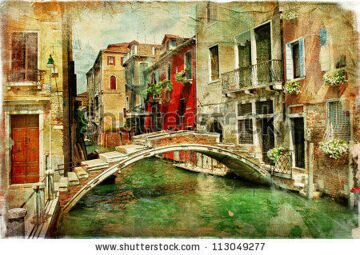 stock-photo-amazing-venice-artwork-in-painting-style-113049277