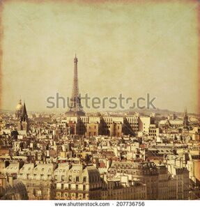 stock-photo-old-style-photo-of-paris-france-aerial-view-207736756