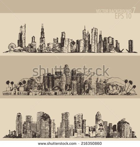 stock-vector-chicago-los-angeles-houston-big-city-architecture-vintage-engraved-illustration-hand-dr