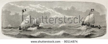 stock-photo-lifeboats-sailing-after-french-vessel-imperatrice-du-bresil-shipwreck-created-by-lebreto