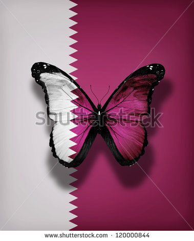 stock-photo-qatar-flag-butterfly-with-isolated-on-flag-background-120000844