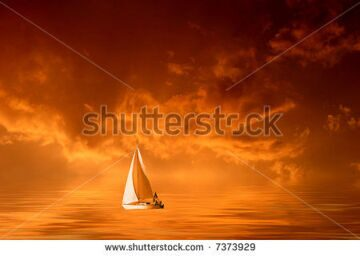 stock-photo-solitary-sailboat-on-the-sea-in-a-cloudy-orange-sunset-7373929