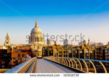 stock-photo-st-paul-s-cathedral-from-the-millennium-bridge-at-dawn-london-england-uk-183016730