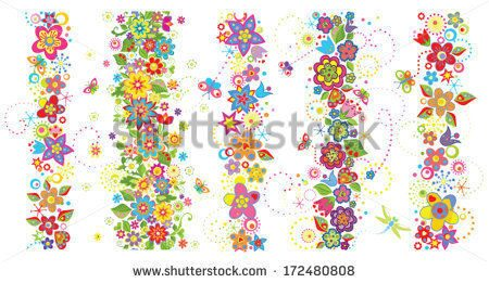 stock-vector-seamless-borders-with-funny-colorful-flowers-172480808