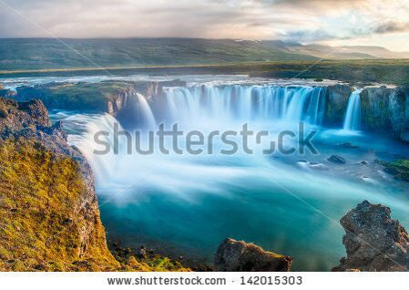 stock-photo-godafoss-is-a-very-beautiful-icelandic-waterfall-it-is-located-on-the-north-of-the-islan