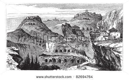 stock-vector-countryside-view-of-castrogiovanni-vintage-engraving-old-engraved-illustration-of-roofed-82694764