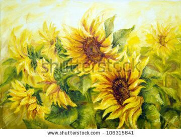 stock-photo-sunny-sunflowers-oil-painting-on-canvas-106315841