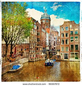 stock-photo-amsterdam-artwork-in-painting-style-86997872