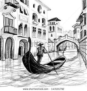 stock-vector-gondola-in-venice-vector-sketch-the-is-hand-drawn-not-auto-traced-143101792