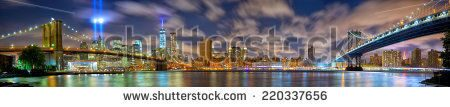 stock-photo-lower-manhattan-skyline-panorama-with-the-towers-of-lights-tribute-in-light-in-new-york-