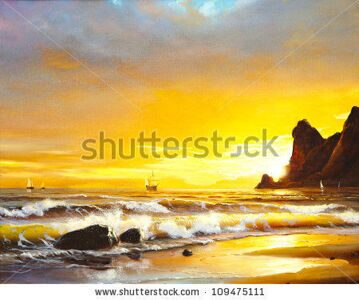 stock-photo-oil-painting-on-canvas-sailboat-against-a-background-of-sea-sunset-109475111
