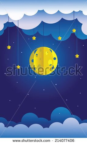 stock-vector-sky-paper-decoration-little-paper-theater-hanged-moon-stars-and-clouds-214077406