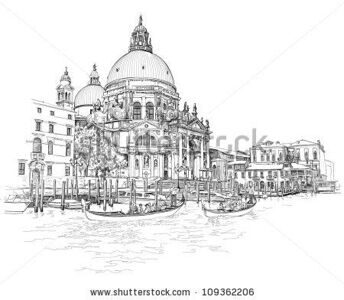 stock-vector-venice-cathedral-of-santa-maria-della-salute-vector-drawing-109362206