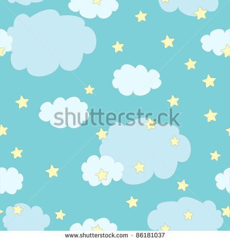 stock-vector-seamless-pattern-with-cute-clouds-and-stars-on-blue-background-86181037