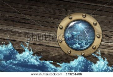 stock-photo-sinking-ship-crisis-concept-with-a-boat-in-dangerous-thunder-storm-sea-challenged-by-a-risky-173251406