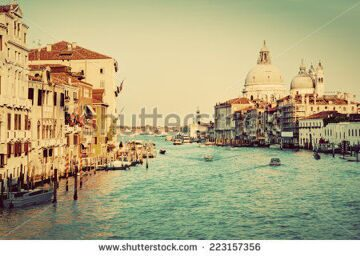 stock-photo-venice-italy-grand-canal-and-basilica-santa-maria-della-salute-in-the-afternoon-vintage-retro-223157356