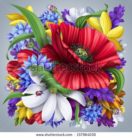 stock-photo-flowers-bunch-illustration-artistic-floral-background-157964030