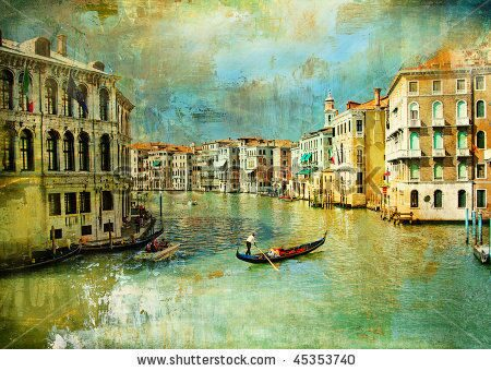 stock-photo-amazing-venice-artwork-in-retro-style-45353740