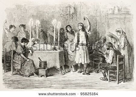 stock-photo-funeral-dance-old-illustration-jijona-spain-created-by-gustave-dore-published-on-le-tour