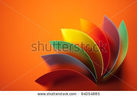 stock-photo-background-image-of-colorful-origami-fan-pattern-made-of-curved-sheets-of-paper-on-orang