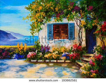 stock-photo-oil-painting-on-canvas-of-a-beautiful-houses-near-the-sea-abstract-drawing-193662581