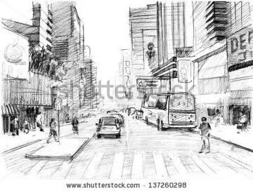 stock-photo-pencil-drawing-of-a-big-modern-city-in-new-york-style-with-skyscrapers-and-pedestrian-137260298