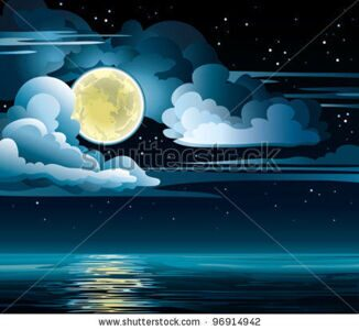 stock-vector-vector-night-cloudy-sky-with-stars-yellow-moon-and-calm-sea-96914942
