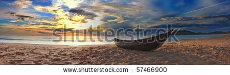 stock-photo-old-fisherman-boat-at-the-beach-panorama-57466900
