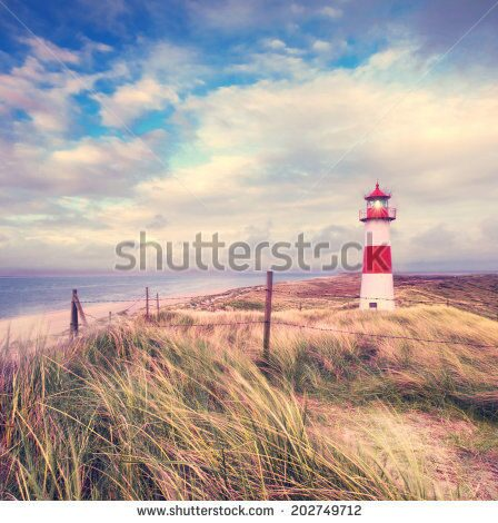 stock-photo-lighthouse-at-the-beach-in-the-dunes-with-a-blue-sky-in-summer-202749712