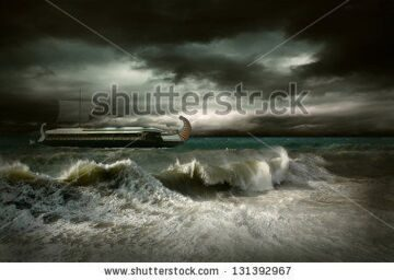 stock-photo-view-of-storm-seascape-with-historical-ship-131392967