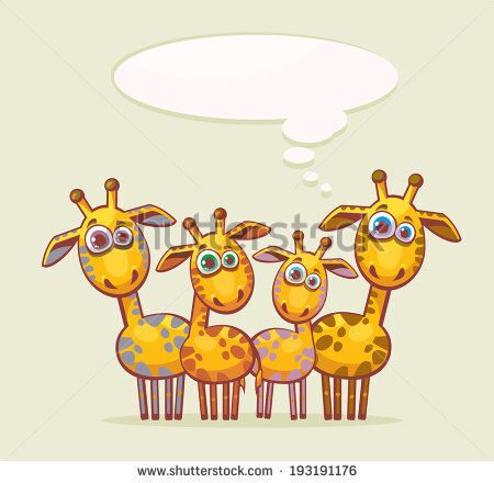 stock-vector-cartoon-animal-family-four-funny-yellow-giraffes-looking-with-surprise-and-thinking-abo