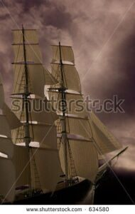 stock-photo-a-tall-ship-sailing-into-stormy-seas-good-concept-photo-for-business-634580