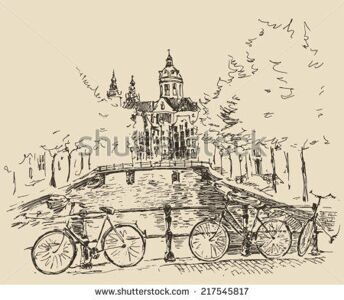 stock-vector-amsterdam-city-architecture-vintage-engraved-illustration-hand-drawn-sketch-217545817
