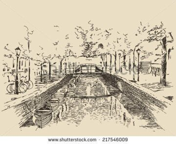stock-vector-amsterdam-city-architecture-vintage-engraved-illustration-hand-drawn-sketch-217546009