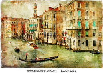 stock-photo-amazing-venice-artwork-in-painting-style-113049271