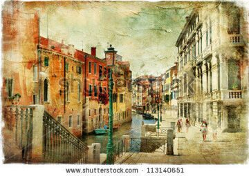 stock-photo-romantic-venice-artwork-in-painting-style-113140651