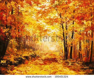stock-photo-oil-painting-landscape-colorful-autumn-forest-195401324