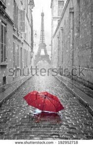 stock-photo-eiffel-tower-view-from-the-street-of-paris-black-and-white-photo-with-red-element-192952718