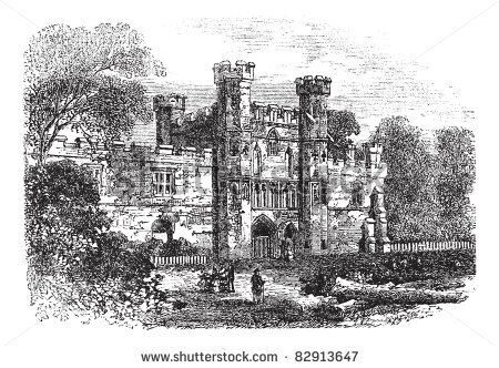 stock-vector-battle-abbey-hastings-east-sussex-england-vintage-engraving-old-engraved-illustration-o