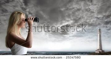 stock-photo-beautiful-girl-controls-with-binocular-the-sea-and-a-lighthouse-on-the-background-25347580