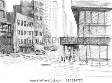 stock-photo-pencil-drawing-of-an-old-street-in-chicago-123524770